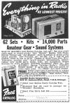 1939 Allied Radio Ad w/TV Kits  (252K bytes)