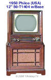 1950 Philco 50T-1404 w/Base  (32K bytes)