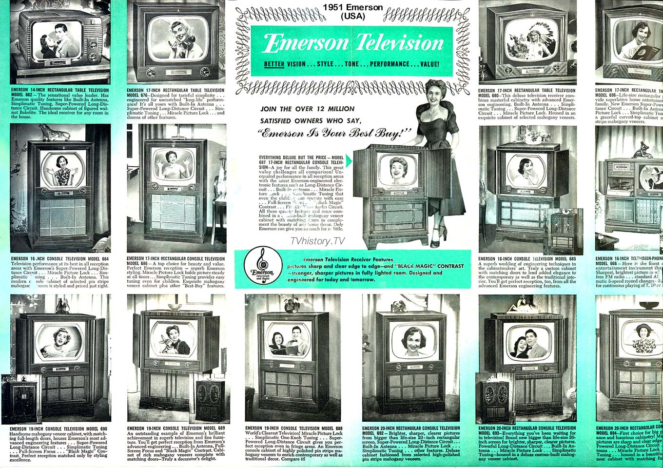 Back Of Emerson Tv