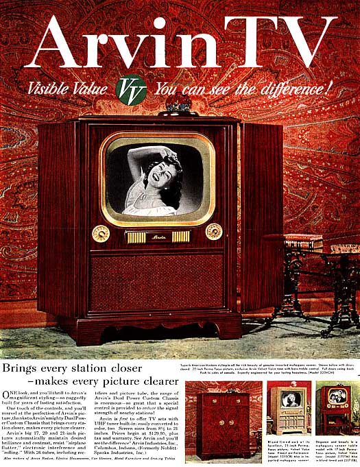1951 advertising Home garden television